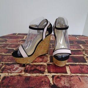 Liliana Wedge Heels Shoes Womans 8 Pink Black